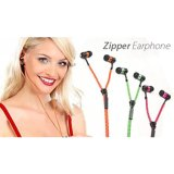Bulit-in Microphone Noise Cancelling Metal Plug Handfree Stereo -Ear in Zipper Earphone