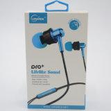 Os auscultadores Earbuds dos fones de ouvido de Univeral para os auriculares 6s do iPhone 6 para Jack na orelha prenderam com branco do controle de volume 3.5mm do Mic com caixa de varejo