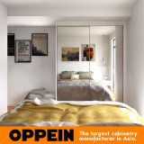 広州の製造業者現代ミラーの終わりHPLの木の卸し売り寝室のワードローブ