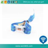 길쌈된 ISO 15693 Ntag213 RFID 직물 팔찌