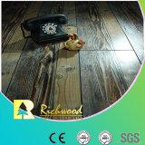 étage stratifié V-Grooved gratté par main de 12.3mm E1 HDF AC4