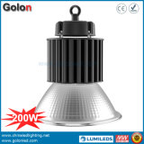 100-277VAC 25 60 90 Reflector de alumínio de 120 graus 1-10V Dimming 100W 150W 200W Industrial LED High Bay Lamp