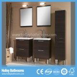 Vanità principale di qualità superiore di lusso della stanza da bagno del Governo del MDF di condizione libera doppia (BF114V)