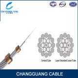 12 prix aérien de mètre de la Chine Changguang de vendeur de câble de fil d'acier de Rod d'alliage d'aluminium du SM G652D Opgw de faisceau