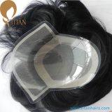 Mono Base Natural Human Hair Men's Toupee