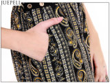 La parte Sleeveless del V-Collo di nuova stampa nazionale del vento delle donne di estate ansima il vestito di pantaloni largo del piedino della vita