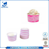 Tubo orgánico llamativo del papel de helado