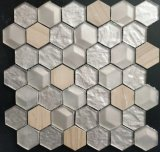 Mosaico de cristal del hexágono para la pared y el suelo