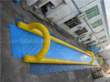 Corrediça inflável do enxerto da única pista, corrediça de água da rua para vendas