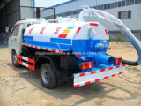 Mini carro del tanque fecal de la succión 4X2 2 toneladas del vacío de carro de las heces
