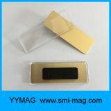 Бирка пластичной Coated магнитной нагрудной планки с фамилией участника высокого качества названная для сбывания