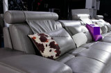 Mobília do sofá do couro genuíno da sala de visitas do divã