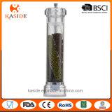 Smerigliatrice di pepe passata acrilica del sale con 3 scompartimenti