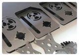 1500W Abrir-Tipo máquina de estaca do laser da fibra para anunciar
