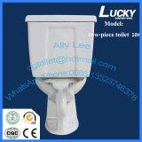 Toilette en deux pièces de vente chaude de carte de travail de Clost de l'eau de lavage à grande eau de Sanitaryware