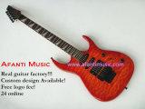Guitarra elétrica com parte superior acolchoada do bordo (Afanti AFEG200)
