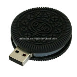 Mecanismo impulsor del flash del USB de las galletas de Oreo del disco del USB del palillo del USB del PVC de la historieta