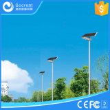 lámpara de calle solar de 15W 20W 30W capaz de la rotación arbitraria del ángulo solar de la tarjeta