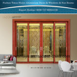 Сверхмощная раздвижная дверь для кухни и живущий комнаты и балкона