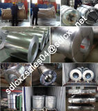 Hoja de acero galvanizada sumergida caliente del material para techos y bobina de acero galvanizada