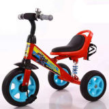 Fahrt auf Dreirad der Dreiradfahrrad-Gelb-Farben-3-Wheel für Kinder