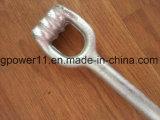 La línea guarnición de Stright poste de las mercancías del individuo del HDG del ancla del ojo doble forjó el ancla gemela Rod del ojo
