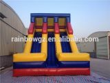 Nuovo Design Cheap Giant Inflatable Dounble Lane Slide per Kids
