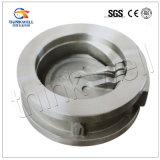 Type clapet anti-retour de disque de carbone/acier inoxydable d'oscillation