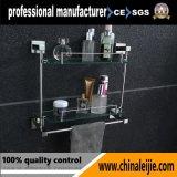 Étagère en verre de double de matériel de salle de bains de modèle moderne