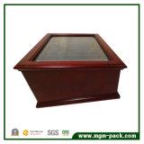 Fuente de lujo de madera de la pluma de la caja con cajón