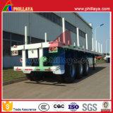 De Tri-Essieux remorque de camion de conteneur de plate-forme semi avec des pieux