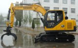 Máquina de madera Catching del nuevo pequeño excavador hidráulico amarillo de la correa eslabonada