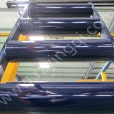 Rolo de borracha de aço de aço resistente do rolo mais tensor do disco do retorno de portador da calha do transporte de correia