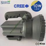 torche imperméable à l'eau puissante de 10W DEL avec la batterie 5.5ah rechargeable