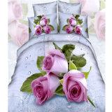 2016 꽃은 4PCS 침대 시트 세트를 인쇄했다