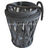 Il supporto di candela di legno rustico personalizzato della lanterna Handmade con Corda-Tratta