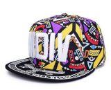 Snapback stampato variopinto di marchio su ordinazione, protezione di sport, protezione di Hip-Hop in vario formato, materiale e disegno