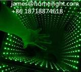 diodo emissor de luz Dance Floor do espelho 3D da infinidade da luz do estágio do diodo emissor de luz do controle da cor cheia de 8PCS RGB