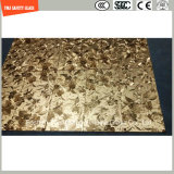 glace de 6mm-20mm Safetylaminated avec le tissu/couche intercalaire en cuir avec le certificat de SGCC/Ce&CCC&ISO pour la décoration, le mur et les meubles d'hôtel et à la maison