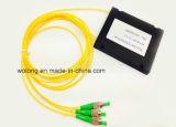 divisor ótico do PLC da fibra do chassi do PC do Sc 1X8 (telecomunicações FTTH FTTX PON de CATV)