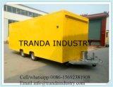 セリウムが付いている移動式食糧トレーラトラックのカートを販売する新製品のホットドッグの通り