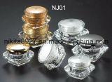 다이아몬드 모양 아크릴 크림 단지 식품 보존병 (NJ01)