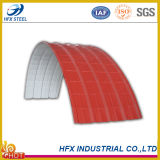 La couleur a ridé la feuille en acier de toit utilisée en matériau de construction