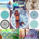 良質の100%年の綿の円形の円のビーチタオル