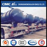 Cimc Huajun 20m3 3 Eje Aceite Sulfúrico Cisterna