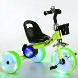 triciclo del pedal de 2017 3 niños de la rueda con la rueda ligera de Falshing