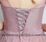 Bridesmaid одевает длинними половинными плиссированное втулками платье свадебного банкета Tulle