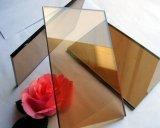 青銅色カラー反射ガラス