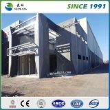 Magazzino prefabbricato chiaro prefabbricato/gruppo di lavoro della struttura d'acciaio