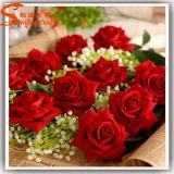 Flor artificial falsa al por mayor 2015 de Guangzhou Rose que parece verdadero